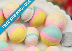 23mm Realistic Pastel Colored Ice Cream Scoop Cabochons - for making fake food crafts - 6 pc set