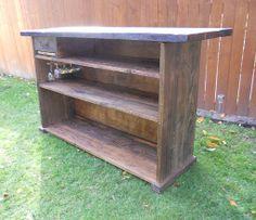 bar built out of reclaimed barnwood