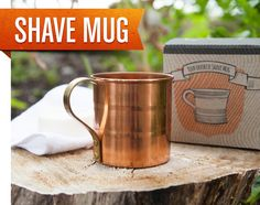 Penny Camp Shave Mug Towel Soap Gift Box by SmithAndCoxCo on Etsy