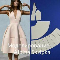 Este posibil ca imaginea să conţină: 1 persoană Dress Sewing Patterns, Clothing Patterns, Fashion Sewing, Diy Fashion, Fashion Details, Sewing Clothes, Diy Clothes, Pattern Draping, Pattern Cutting
