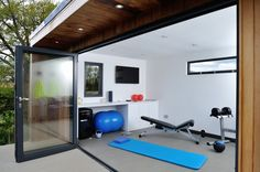 Garden Room Home Gym - Contemporary Garden Rooms by Harrison James