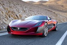 The all-electric Rimac Concept One supercar
