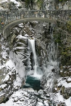 Christine Falls, Mount Rainier National Park, Washington State