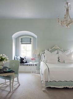 Antique inspired modern bedroom