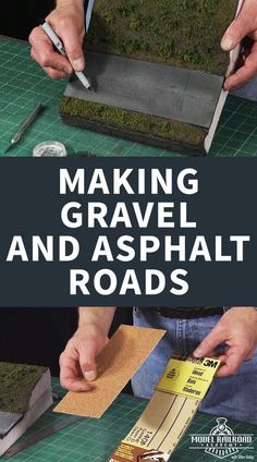 Making Gravel and Asphalt Roads Model road layouts add interest and realism to a model railroad. Just like in real life, roads can almost always be found near a railroad track. In this video, Gerry Leone, National Model Railroad Association's Master Model Ho Train Layouts, Ho Scale Train Layout, Escala Ho, Model Training, N Scale Model Trains, Scale Models, Model Railroader, Asphalt Road, Modeling Techniques