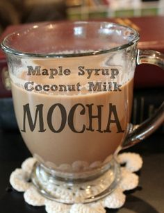 Maple Syrup Coconut Milk Mocha