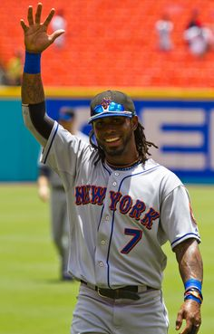 Jose Reyes shining the spotlight. #sports #baseball #mets