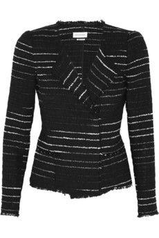 Étoile+Isabel+Marant+Glenn+striped+bouclé+jacket+ +NET-A-PORTER