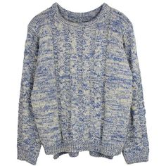 Go with the Blue Knitwear Jumper ($36) ❤ liked on Polyvore featuring tops, sweaters, shirts, jumpers, blue sweater, shirt sweater, blue top, jumpers sweaters and jumper top