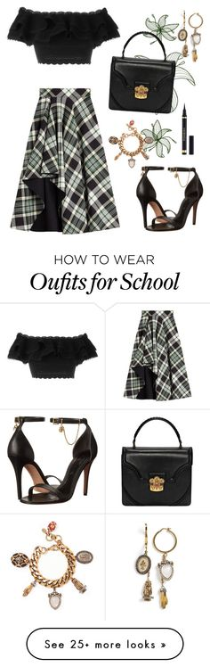 """""""Private School Punk"""" by brookea1998 on Polyvore featuring Alexander McQueen and Yves Saint Laurent"""