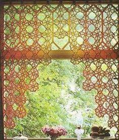 Crochet Curtain Pattern on Pinterest | Cortinas Crochet, Crochet ...