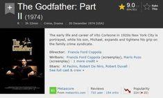 10 Film Rating Tertinggi Sepanjang Masa di IMDb Terbaru Lengkap Film Ratings, 10 Film, The Godfather, Drama, Life, Dramas, Drama Theater
