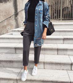 "6,842 mentions J'aime, 11 commentaires - www.outfitbook.fr (@outfitbook_) sur Instagram : ""Sunday = Casual Look ✔ Veste en jean ref H389 | Pantalon ref 11517-2 | www.outfitbook.fr (lien en…"""