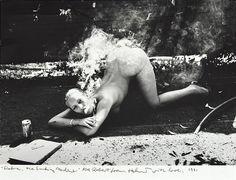 Smoking Machine by Helmut Newton