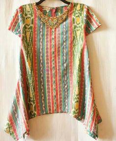 Lurik Batik Kebaya, Kebaya Dress, Blouse Dress, Blouse Batik, Batik Dress, Kimono, Batik Fashion, Ethnic Fashion, Womens Fashion