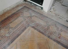 Antique inlaid parquet floor - Floors