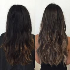 Image result for dark ash brown ombre