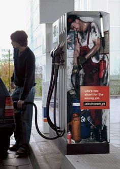 petrol pump creative job ad