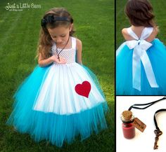 Alice in Wonderland Costume Tutu Dress by JustaLittleSassShop,