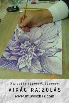 A rajzolás alapjai, és a virág rajzolás. Olvasd el a cikket: 2 Colours, Watercolour Painting, Ideas