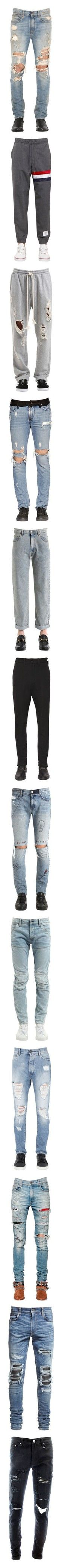 """""""B. Male"""" by powergirls-officele ❤ liked on Polyvore featuring men's fashion, men's clothing, men's jeans, jeans, light blue, mens destroyed jeans, mens ripped jeans, mens jeans, mens distressed jeans and mens faded jeans"""