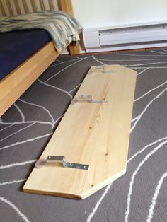 DIY toddler bed rail