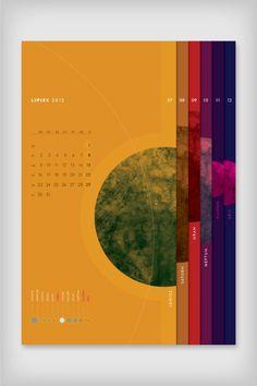 Calendar Planetarium by Emigo , via Behance Flyer Layout, Layout Design, Print Design, Logo Design, Kalender Design, Graphic Design Brochure, Booklet Design, Folder Design, Publication Design