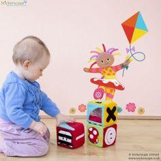 Upsy Daisy with kite wall sticker