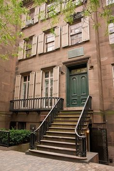 Birthplace of Teddy Roosevelt (1858-1919) Our 26th President - NYC - Location: 28 East 20th St                           A recreated restoration of the Brownstone, was appointed to resemble the interior, as it would have appeared in c.1865. Providing a good example of interior furnishings of  Gilded Age NYC.  A museum today, run by the National Park Service.