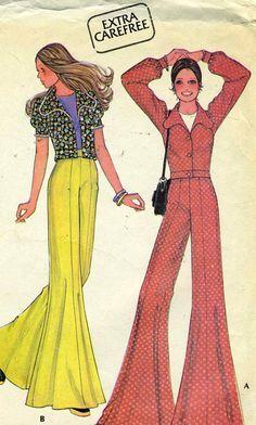Vintage 70s McCalls 3848 Misses Super Bell Bottoms by RomasMaison