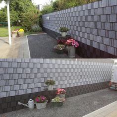Zichtdicht, een naam in hekwerkbekleding Lava, Mesh Fencing, Garden Deco, Rooftop Garden, Fence, Patio, Flooring, Outdoor Decor, Plants