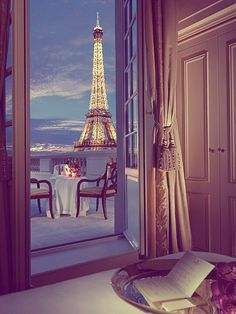 Bedroom in Paris... would love to have this as wall mural