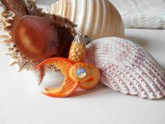 Orange and Yellow Mermaid Tail, mermaid pendant, mermaid tails, mermaid tail jewelry, mermaid jewelry, original pendant, mermaid accessories - pinned by pin4etsy.com Mermaid Pendant, Mermaid Jewelry, Mermaid Art, Mermaid Tails, Etsy Jewelry, Jewelry Crafts, Handmade Clothes, Handmade Jewelry, Etsy Handmade