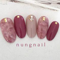 Perfect Nails, Gorgeous Nails, Pretty Nails, Korean Nail Art, Korean Nails, Japan Nail Art, Super Cute Nails, Happy Nails, New Nail Designs