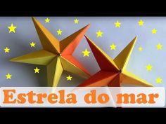 Origami: Estrela de 5 Pontas 2.0 - Instruções em Português BR - YouTube                                                                                                                                                                                 Mais