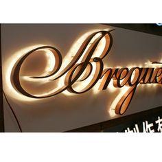 Stainless Steel Metal Sign Letters LED Backlight Custom Signage Shop Logo | eBay