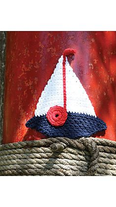 Free crochet sailboat applique pattern mayo pinterest applique ravelry sailboat dishcloth pattern by lily sugarn cream free dt1010fo