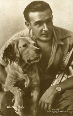 From Sweden this great post card of Wallace Reid and his dog Spike, this seems to be his most recognizable image