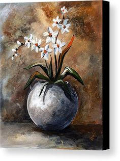 Art Canvas Print featuring the painting Still Life 049 by Edit Voros