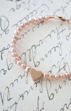 Rose Gold Love Freshwater Pearls Bracelet  #FASHION MK BAGS# MICHAEL KORS