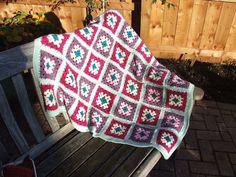 Crocheted blanket or throw