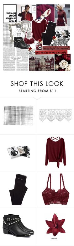 """""""Memories take us back, dreams take us forward!"""" by xcuteniallx ❤ liked on Polyvore featuring Chanel, Cosabella, GET LOST, Senso, Polaroid and Clips"""