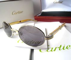 a2d99466886 Cartier 2822546 Sunglasses In Yellow Silver With Dark Lens