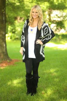 Check out Flourish Boutique for this All About The Aztec Cardigan
