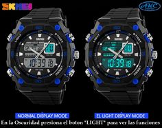 45bb426a6ff5 Relojes SKMEI deportivo azul 1092 analogo digital con funcion de hora  12 24