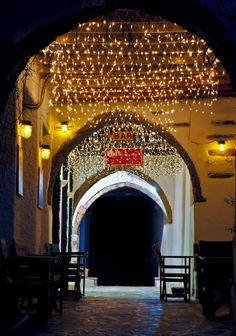 ~ Night Alley - Naxos ~  by Nikos Golfis