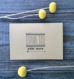 Thank You Very Much 10 Pack of Thank You Cards by ChampaignPaper