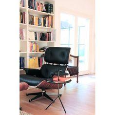 Eames Lounge Chair Und Ottomane   Schwarz Mit Rosenholz