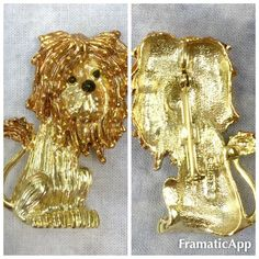 Vintage Lion Gold Tone Brooch Pin Signed Gerry'S | eBay