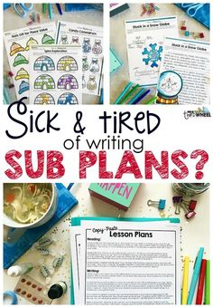 Writing emergency sub plans is a pain, but it doesn't have to be! These easy to use plans for 3rd and 4th grade can be copied and pasted into your own template and include fun, common core aligned activities students love! Free up your time to focus on getting better..just click print and your substitute will be ready to go. Plans include: math activities, mentor text aligned reading and writing, theme-based social studies passages, and a fun STEM challenge.